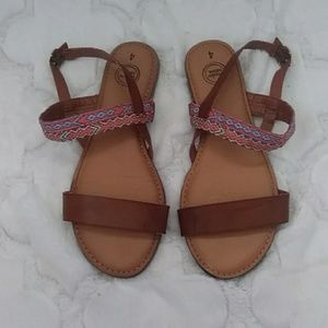 Wonder Nation Girls Sandals Size 4